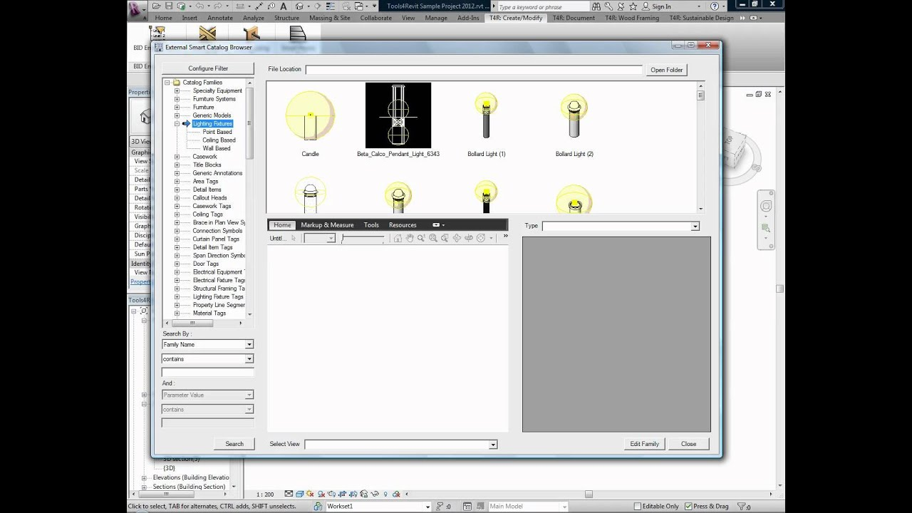 How to manage 1000's of families in Revit - tools4revit Smart Browser
