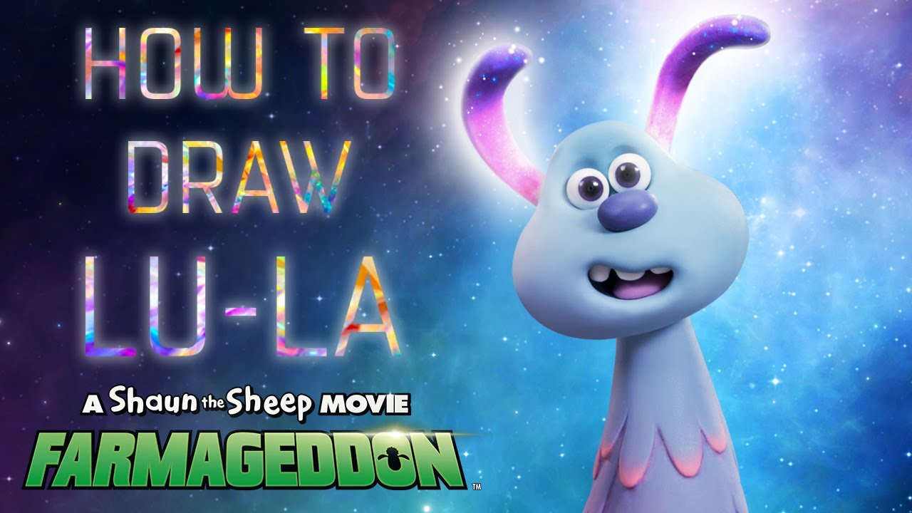 How To Draw Lu-La - A Shaun the Sheep Movie: Farmageddon