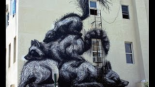 Street Art: Williamsburg, Brooklyn (Roa, Cer1, Dain ,Icy and Sot, Gilf!, LNY Joe Iurato y C215)
