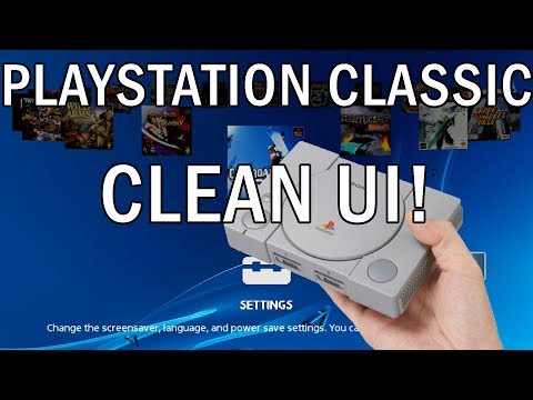Playstation Classic   Clean UI, no more of that purple BS
