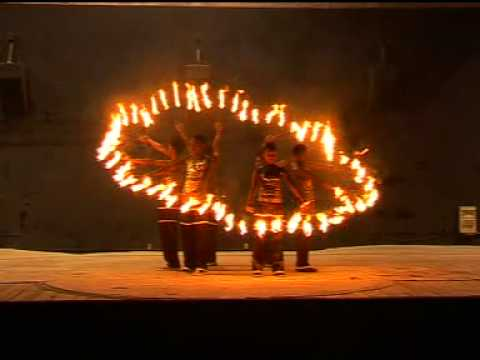 Fire Fan Acts by African Roots Circus