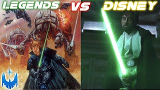 Legends Star Wars VS The Disney Sequel Trilogy - A Contrast!