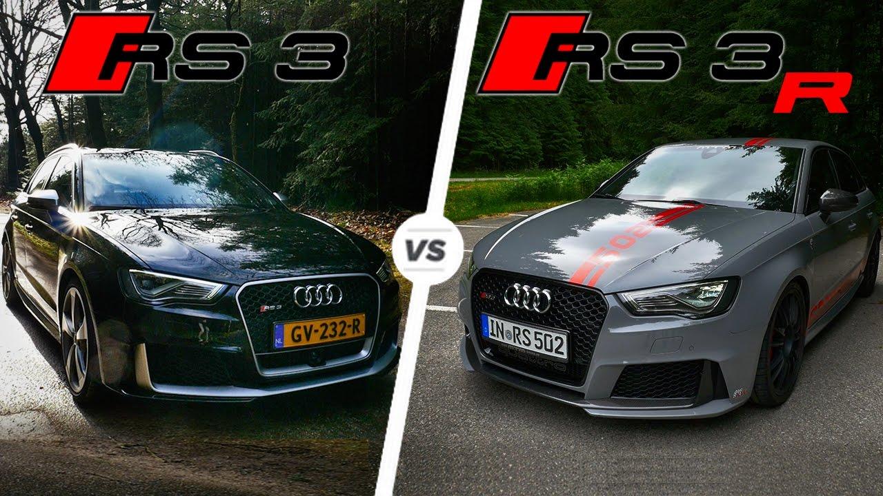 Audi RS3 vs MTM RS3 R Acceleration POV Sound Autobahn Test ...
