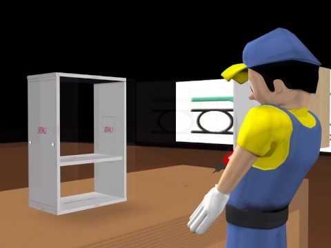 Armado de gabinete y cocina doovi for Armado de gabinetes de cocina