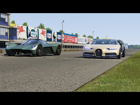 Aston Martin Valkyrie vs Bugatti Chiron at Monza Full Course
