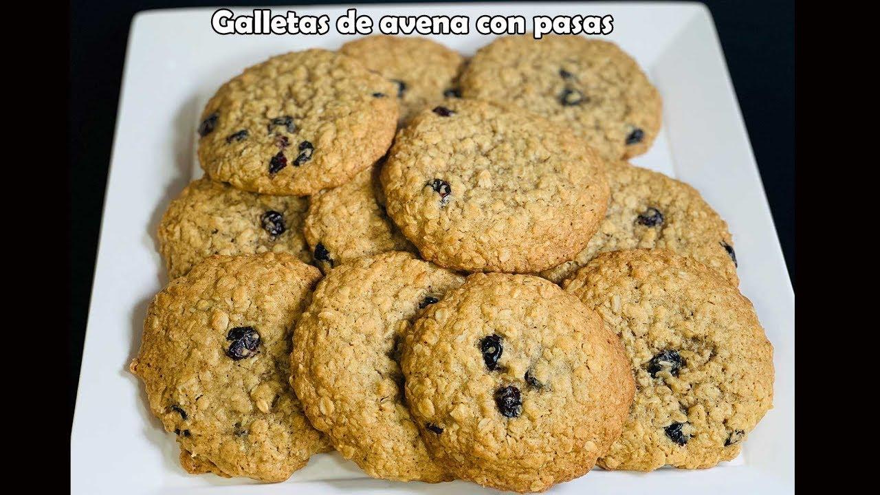 Como hacer galletas de avena con arandanos
