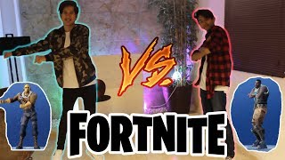 BAILES DE FORTNITE IN REAL LIFE!! / IVAN vs CHRIS - IVANSPIDEY