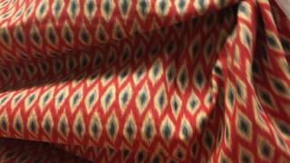"""Waverly Inspirations """"Ikat Diamond"""" Red Drapery Fabric"""