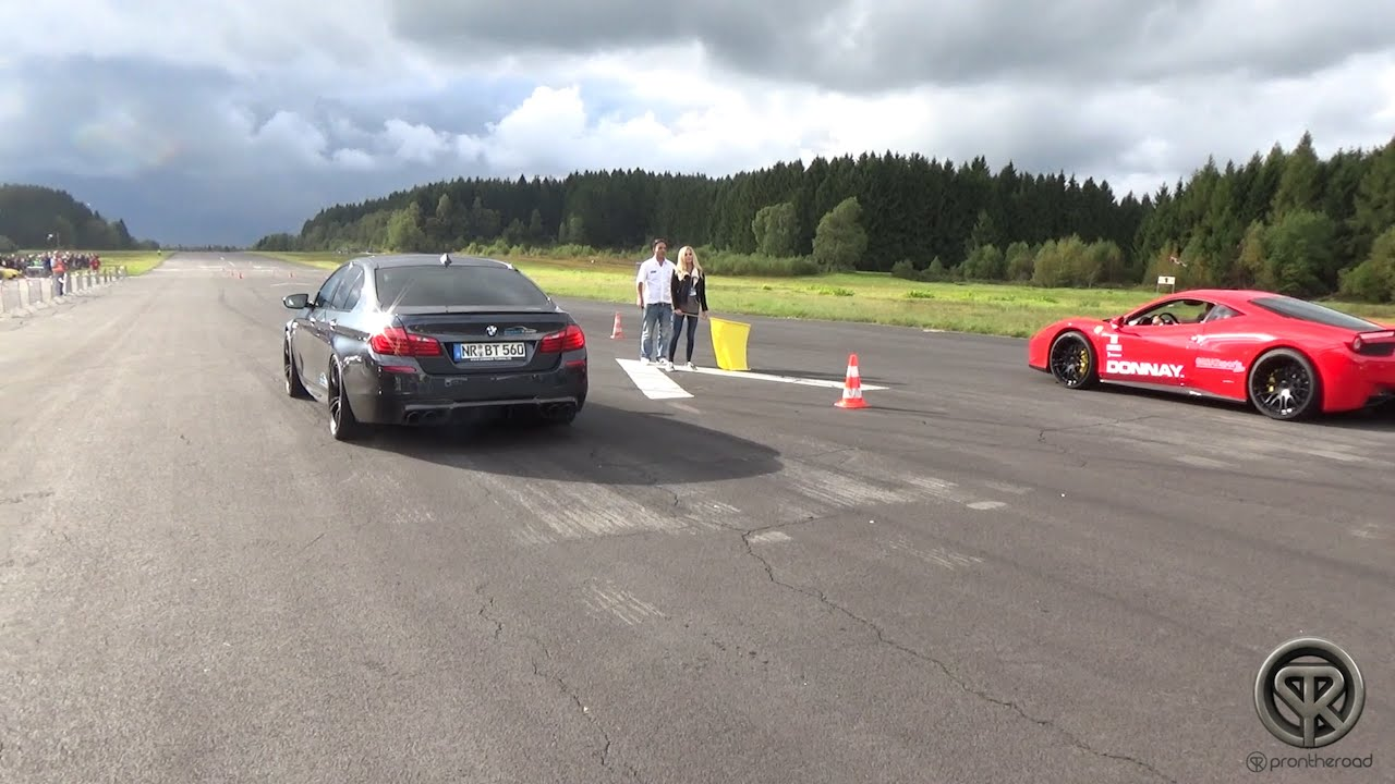 700HP BMW M5 F10 VS Ferrari 458 Italia - DRAG RACE - YouTube