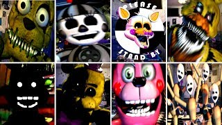 - ALL 8 SECRET ANIMATRONICS Ultimate Custom Night