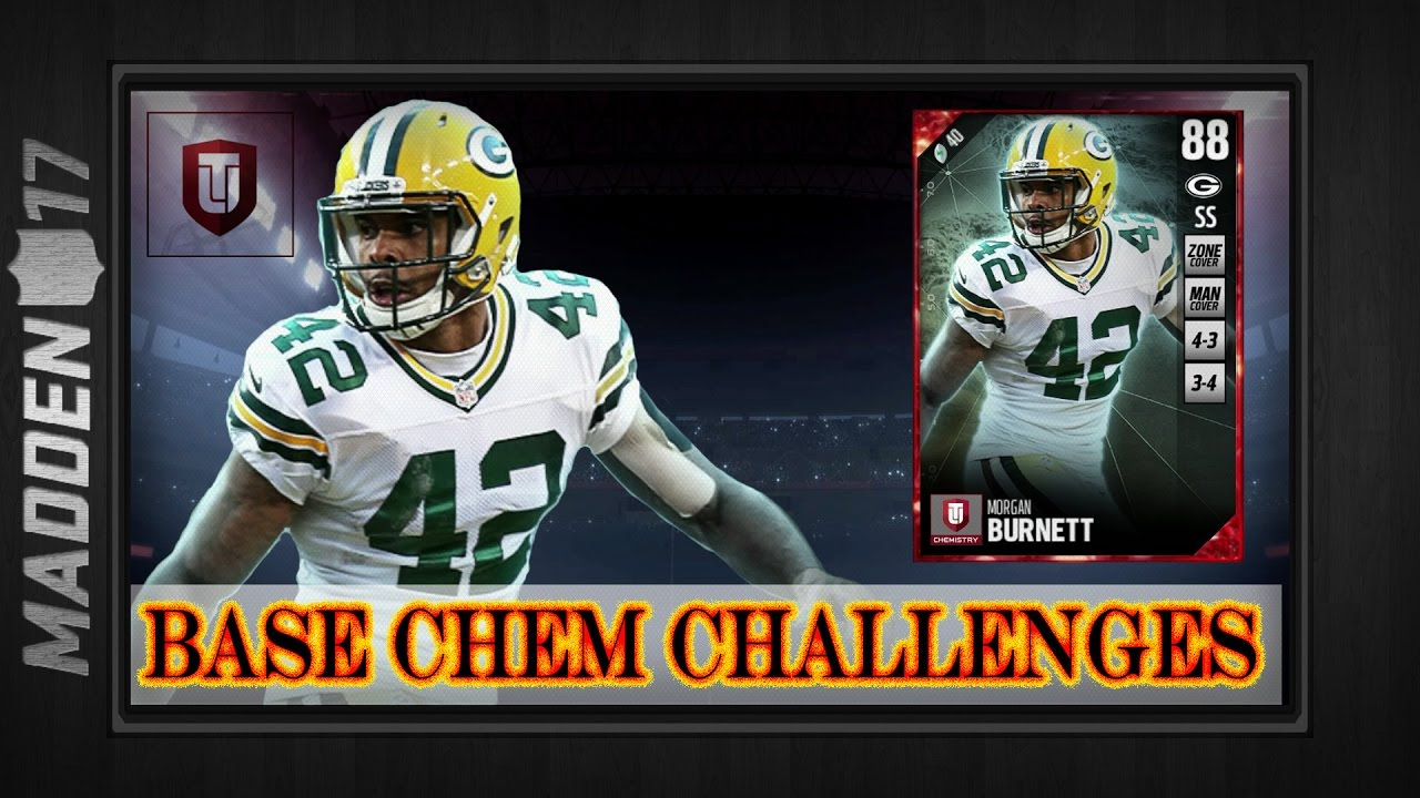Madden 17 Base Chemistry Challenges 88 Morgan Burnett