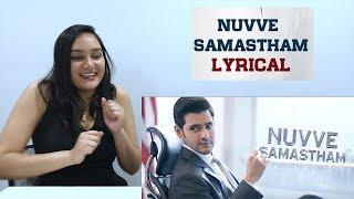 Nuvve Samastham Lyrical REACTION | Maharshi | Mahesh Babu | Vamshi Paidipally | American Reaction!