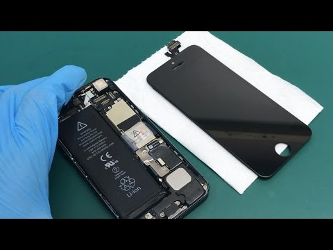 How to replace glass on iphone 5 their hands - on glue LOCA