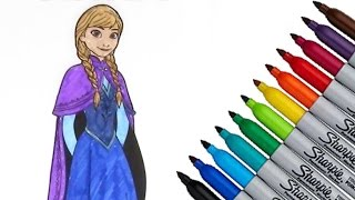 Frozen Anna Disney Coloring page 2017 New HD Video for Kids