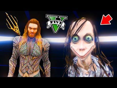 ENCONTRANDO A MOMO (con Aquaman) - GTA 5 thumbnail
