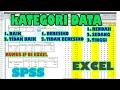 pengkategorian data rendah sedang tinggi pada data  dengan spss dan excel menggunakan rumus if