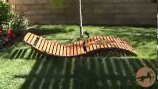 Lahaina Wood Folding Chaise Longue