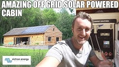 AMAZING OFF GRID SOLAR POWERED CABIN | POWERED BY VICTRON ENERGY
