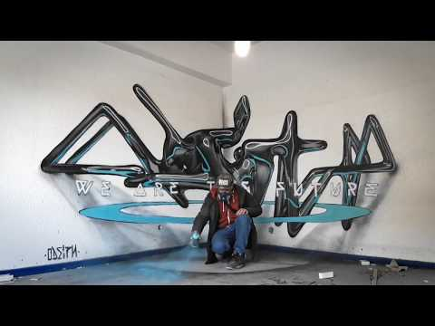 Odeith Anamorphic // Time Lapse // 3d letters // WE ARE THE FUTURE! //