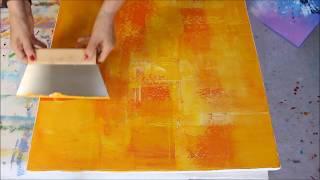Acrylmalerei - Easy painting - Modernes, abstraktes Bild in Spachteltechnik - Demo 2018 10