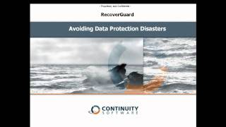 RecoverGuard 4.3 Demo Part 0 - Disaster Recovery Testing Challenges