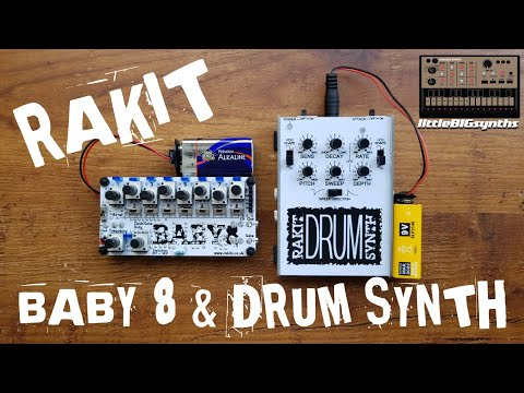 Rakit Drum Synth & Baby 8 Sequencer | Sound Demo + Overview