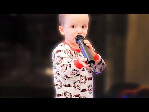 Toddler Tries Karaoke!