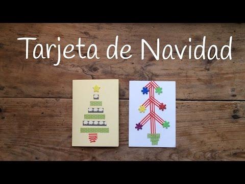 Unas tarjetas de navidad creativas con unos bonitos árboles de washi tape