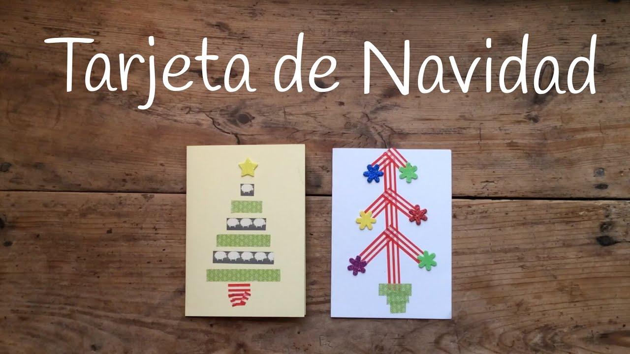 C mo hacer tarjetas de navidad f ciles para ni os con - Como hacer tarjetas de navidad faciles ...