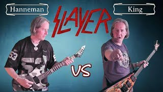 Hanneman VS King (Slayer Guitar Riffs Battle)