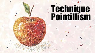 Speed Painting | Technique Pointillism | Apple | Gouache | IOTN