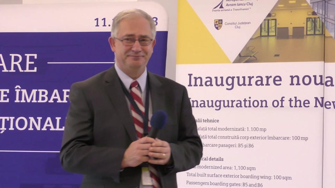 Inaugurare noua zonă de îmbarcare zboruri internaționale, la Aeroportul Cluj (11.12.2018)