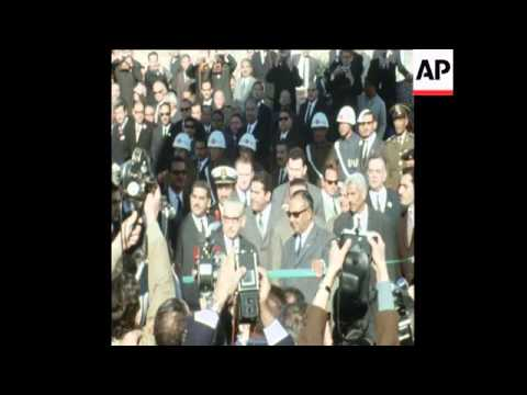 SYND 16/01/1971 OFFICIALS OPEN THE NEW ASWAN DAM