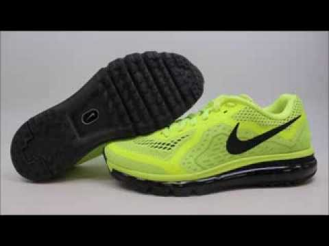 e115aff83bf Nike Air Max 2014 621077-700 KixRx.com Black Volt-White Mens - YouTube
