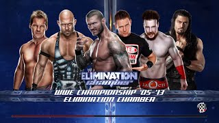 WWE 2K15 - Orton vs The Miz vs Ryback vs Sheamus vs Reigns vs Jerico Elimination Chamber  (PS4)