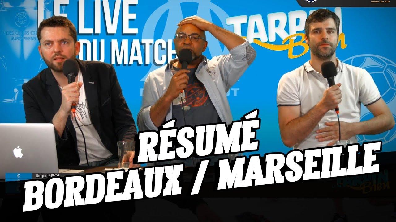 r u00e9sum u00e9 du match bordeaux    marseille