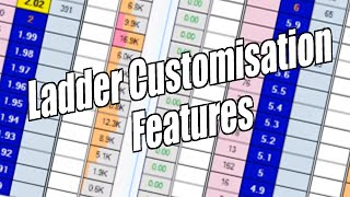 Bet Angel - Betfair trading software - Ladder customisation features (Shorter version)