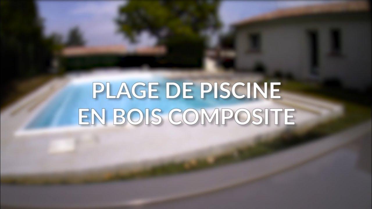 Plage de Piscine en Bois Composite | Time-lapse vidéo - YouTube