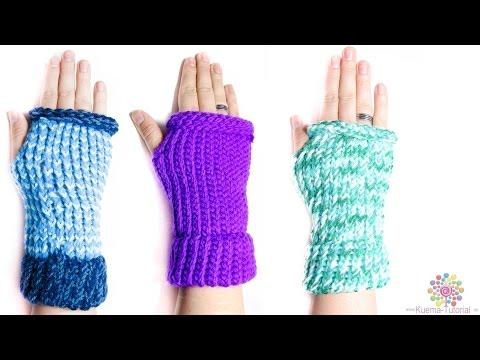 Kntting Loom – Stulpe | fingerlose Handschuhe