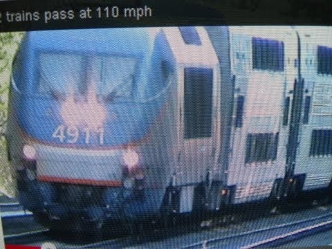 Thumbnail: 2 trains pass at 110 mph