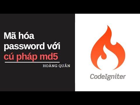 [CodeIgniter_Bài5]: Mã hóa password với cú pháp md5