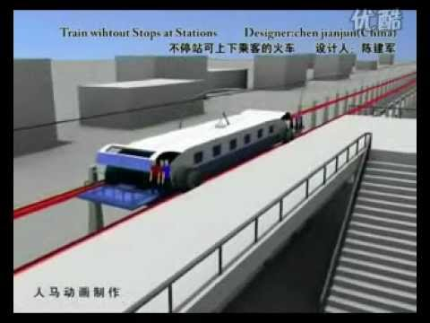 INNOVATION : plus d'arrêts pour le TGV Chinois ! High-Speed train don't stop !