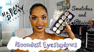 ? SWATCHES & REVIEW ? Urban Decay Moondust Eyeshadows (ALL 15 SHADES!) ?