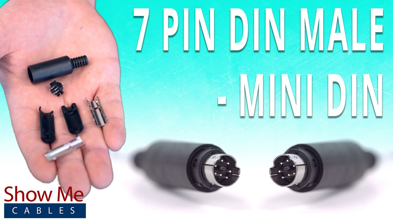 How To Install The 7 Pin Mini DIN Male Solder Connector - YouTube