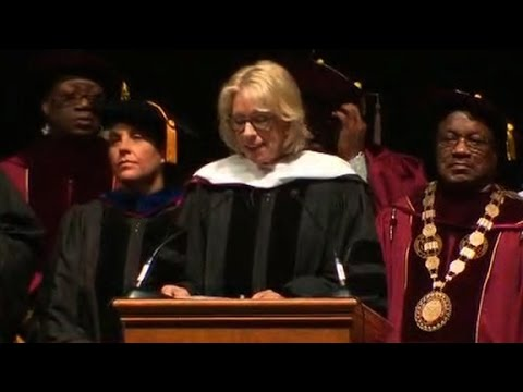 Besty Devos booed at university (entire speech)