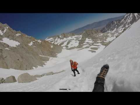 "Mount Whitney 1200 vertical foot Glissade - ""The Chute"""