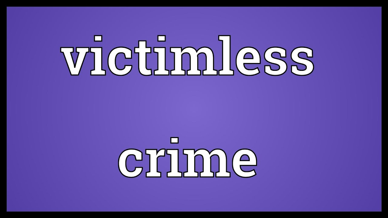types of victimless crimes