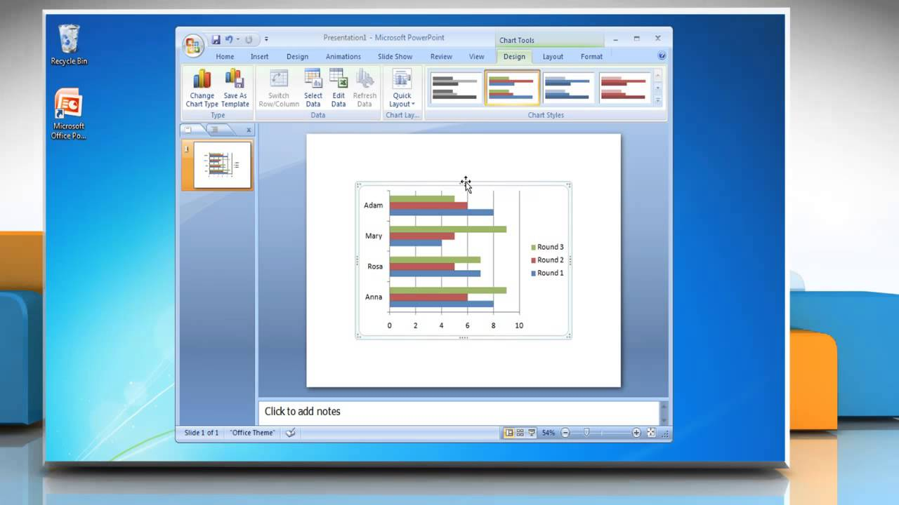 How to make a bar graph in microsoft powerpoint 2007 youtube how to make a bar graph in microsoft powerpoint 2007 alramifo Choice Image