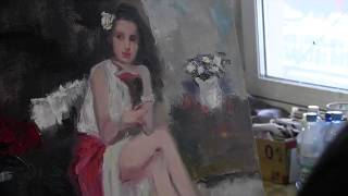 Мастер-класс Игоря Сахарова в Москве, живопись для начинающих, масло