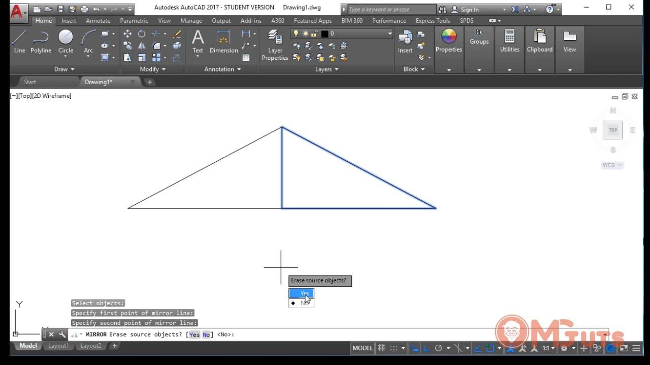 How to use MIRROR tool in Autocad - Free autocad tutorials